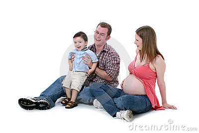Adorable Family Moment With Mom Dad And Big Brother