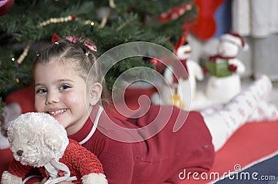 Adorable girl at Christmas time