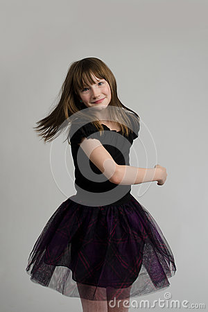 Adorable girl dancing
