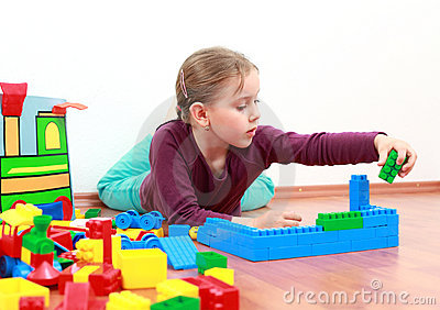 Adorable girl playing
