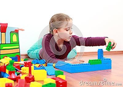 Adorable girl playing
