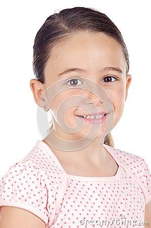Adorable girl smiling