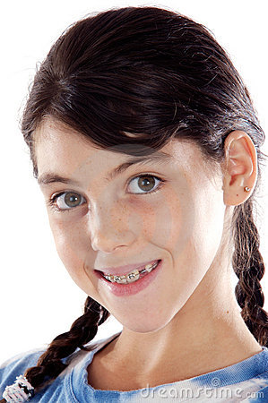 Free Adorable Girl With Braces Royalty Free Stock Image - 5687556