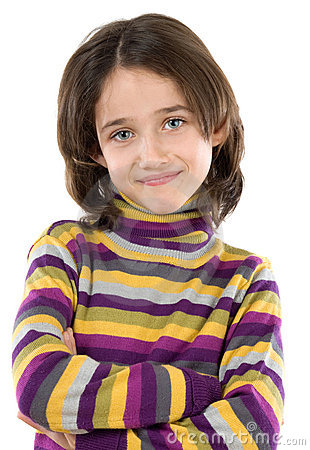 Free Adorable Girl With Her Arms Crossed Stock Photo - 7378680