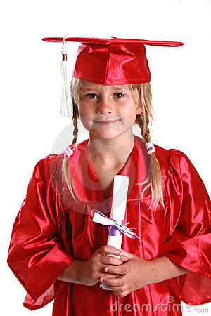 Adorable graduation kid