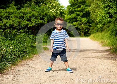 Adorable Kid Excited for Vacation