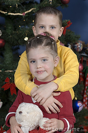 Adorable kids with the Holiday Spirit