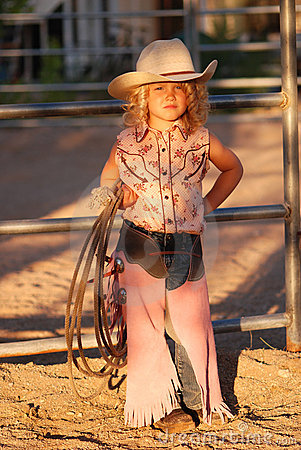 Free Adorable Little Cowgirl. Royalty Free Stock Image - 5775316