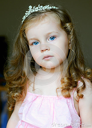 Adorable little girl dressed as a princess