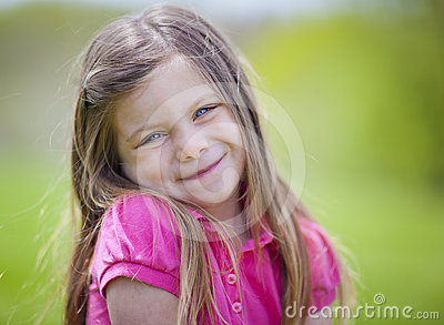 Adorable little girl outdoor portrait