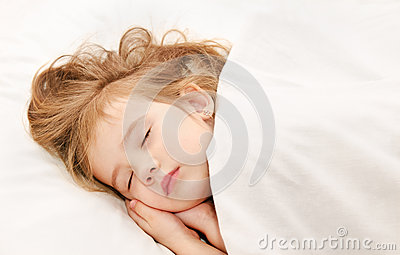 Adorable little girl sleep