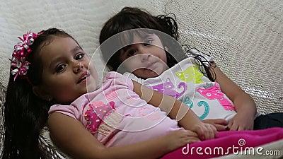 Adorable Little Girls Lying In Hammock. Stock Footage - Video ...