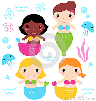 Adorable little Mermaid set