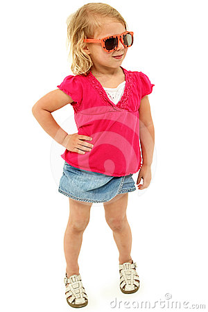 Adorable Preschool Girl with Sassy Attitude