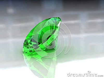 Adorable round emerald stone