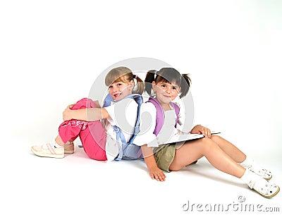 Adorable school girls