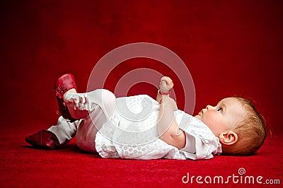Adorable seven months old newborn cuttie
