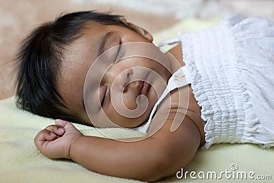 Adorable Sleeping Indian Baby