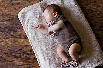 Adorable sleeping newborn baby