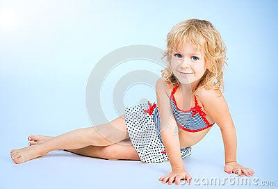 Adorable smiling playful girl 4 years old