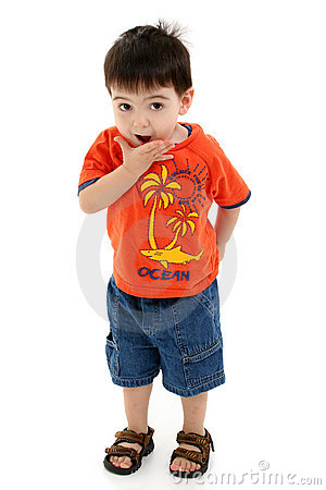 Free Adorable Toddler Boy Making Silly Faces Stock Image - 191491