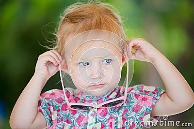 Adorable toddler girl