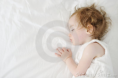 Adorable toddler girl sleeping