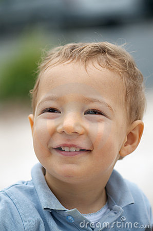 Adorable toddler smiling
