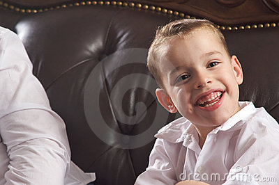 Adorable Young Boy Smiles