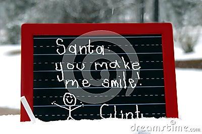 Adoring Santa Claus