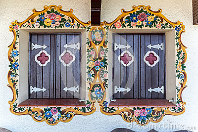 Adorned Wood Windows Gramado Brazil
