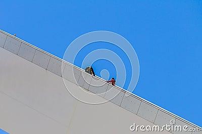 Adrenaline Bunjee Jumpers Steps Editorial Photography