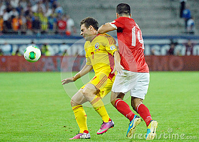 Adrian Popa in Romania-Turkey World Cup Qualifier Game Editorial Stock Image