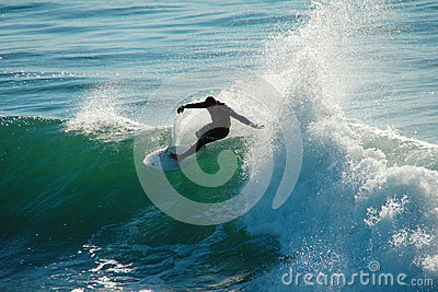 Adriano DeSouza Surfing in Santa Cruz California Editorial Stock Image