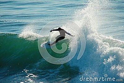 Adriano DeSouza Surfing in Santa Cruz California Editorial Stock Image