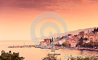 Adriatic bay scenic view. Opatija