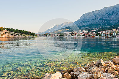 Adriatic port of Makarska,  Croatia