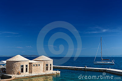 Adriatic sea coast of Croatia. Scenic view