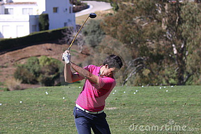 Adrien Bernadet Andalucia Golf Open, Marbella Editorial Stock Image
