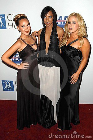 Adrienne Bailon, Hilary Duff, Kiely Williams, Sabrina Bryan Editorial Stock Image