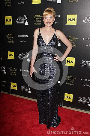 Adrienne Frantz at the 39th Annual Daytime Emmy Awards, Beverly Hilton, Beverly Hills, CA 06-23-12 Editorial Image