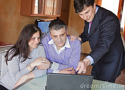 Adult Couple with Investment Consultant