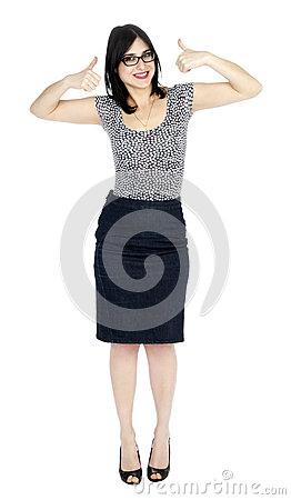 Isolated Success 30 s Woman