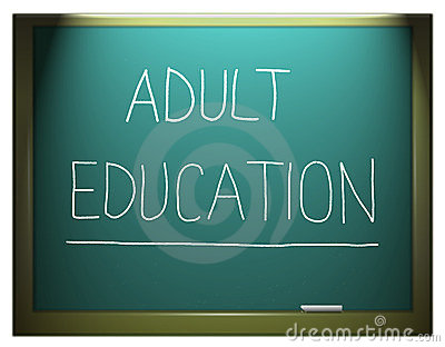 Adult education.