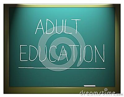 Adult education.
