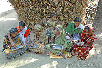 Adult Education in rural India Editorial Stock Photo