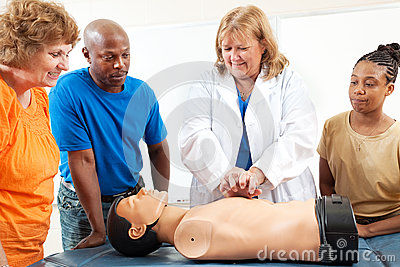 Adult Education Students Learn CPR