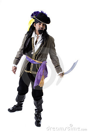 Adult Male Indian Model dressed as pirate