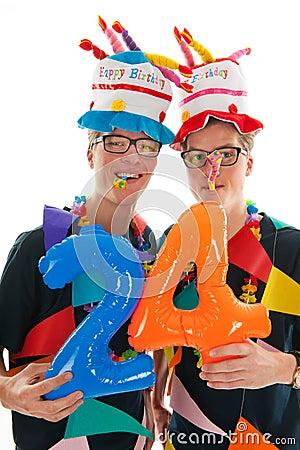 Adult male twins birthday