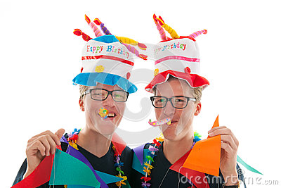 Adult male twins birthday
